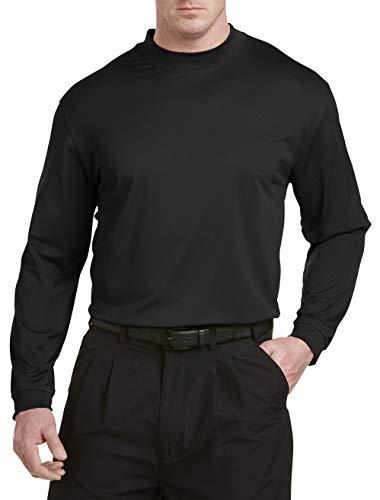 Reebok Dry Play T-shirt - Reebok Big & Tall Golf Long Sleeve Play Dry Mockneck T-Shirt Black