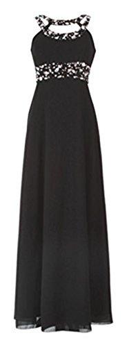 GEORGE BRIDE - Vestido - corte imperio - Sin mangas - para mujer negro