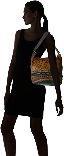 Genny Kestenberg Calf Brown Hobo Aimee Cheetah Bucket Hair CRwq55dx