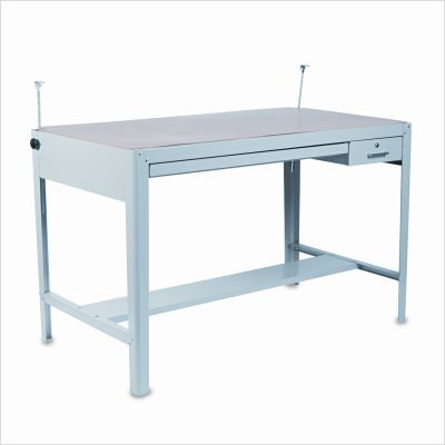 (SAFCO Precision Four-Post Drafting Table Base, 56-1/2w x 30-1/2d x 35-1/2h, Gray (Case of 2))
