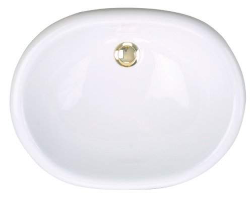 St. Thomas Creations 1013.000.01 Madrid Petite Oval Self-Rimming Lavatory Sink with Overflow, White Finish. Drain stopper not - Countertop Thomas St