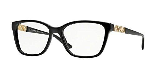 Versace Women's VE3192B Eyeglasses Black - Designer Eyeglasses 2014