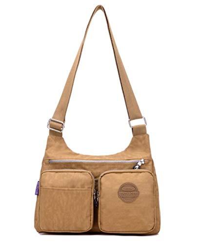 Bags Women resistant for Lightweight Nylon Crossbody Bag Purses Water Shoulder Fashion amp;Girls Khaki Messenger and Handbags 77IOwqY