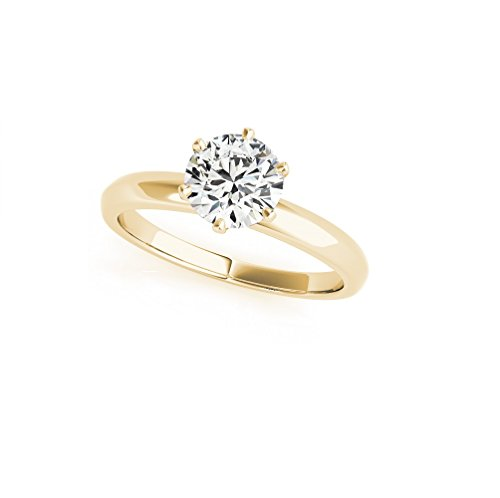 14KT Yellow Gold 5/8 ct J-L I1-/I2+ Solitaire Engagement Ring