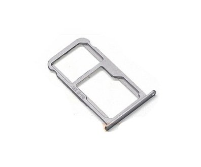 Nano SIM/ Micro SIM Card Tray Holder Micro SD Card Slot Holder Adapter for Huawei Asend Mate 9 - Silver by Unknown