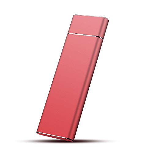 External Hard Drive, Hard Drive Portable Storage Drive Slim External Hard Drive Compatible with PC, Laptop and Mac (1TB, Red)