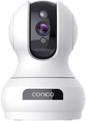 Indoor Camera,Conico 1080P Pan/Tilt Baby Monitor with Camera and Audio,Pet Camera with Motion Detection,Two-Way Audio,Night Vision,Cloud and Local Storage,WiFi Camera Compatible with Alexa for Home
