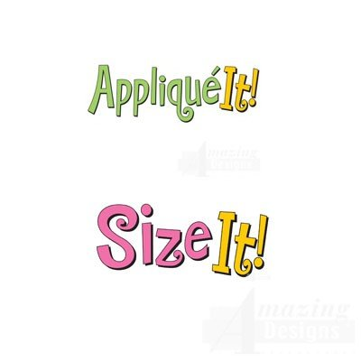 Amazing Designs APPLIQUE IT! & SIZE IT! Embroidery Machine Software Combo & Stabilizer Bundle