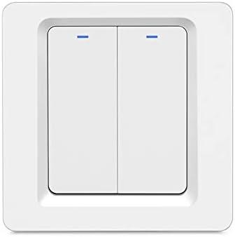 Interruptor de luz inalámbrico inteligente WiFi ,fácil instalación en pared, no requiere conce...