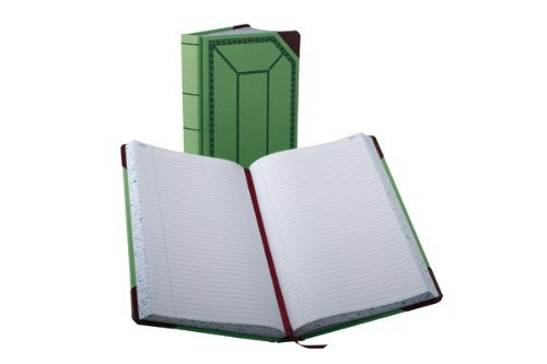 Boorum & Pease 6718500R Record/account book, green/red cover, record rule, 12-1/2 x 7-5/8, 500 pages by Boorum & Pease by Boorum & Pease