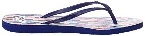 Bleu Tongs Navy Bermuda Roxy White Femme q6ftn5w