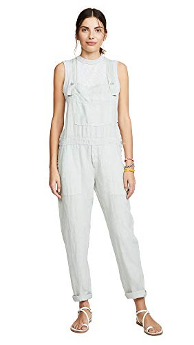 Bella Dahl Women's Button Overalls, Water Lily, Green, ()