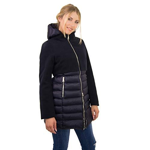 Vestibilità Ikonit 50 Piumino Impermeabile Taglie Tessuto Blu 42 Elegante Donna Baschina Con Giacca Regular Morbido Fit 4fqCw4r1