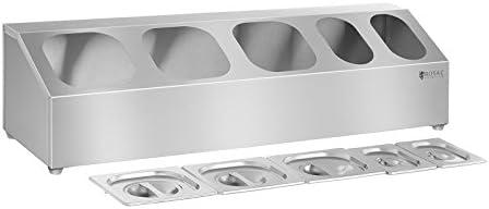 Royal Catering Soporte para Cubetas GN RCTS 1/6/1/9 (Acero inoxidable, para GN 1/6 und GN 1/9, Posibilidad de montaje en la pared, Apto para lavavajillas): Amazon.es: Hogar