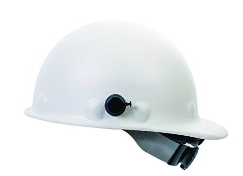 Fibre-Metal by Honeywell P2AQSW01A000 Super Eight Swing Strap Fiber Glass Cap Style Hard Hat with Quick-Lok, White