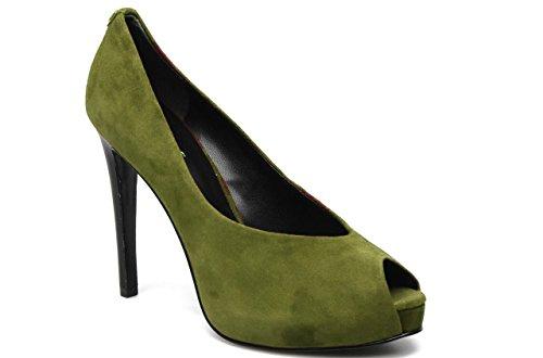 11sunshop Modello Di Pompa In Pelle Scamosciata Venere Di Hgilliane In 33-44 Verde