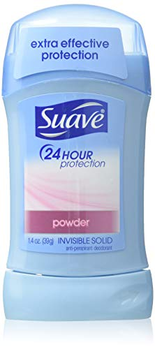 - Suave 24 Hour Protection Anti-Perspirant/Deodorant Invisible Solid, Powder 1.4 Oz (Pack of 6)