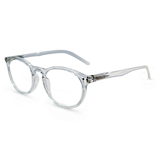 In Style Eyes Flexible Readers, Super Comfortable Lightweight Reading Glasses/Clear - Clear Reading Glasses