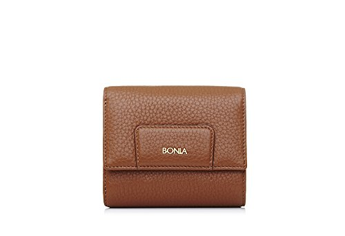bonia-womans-brown-milled-petite-purse