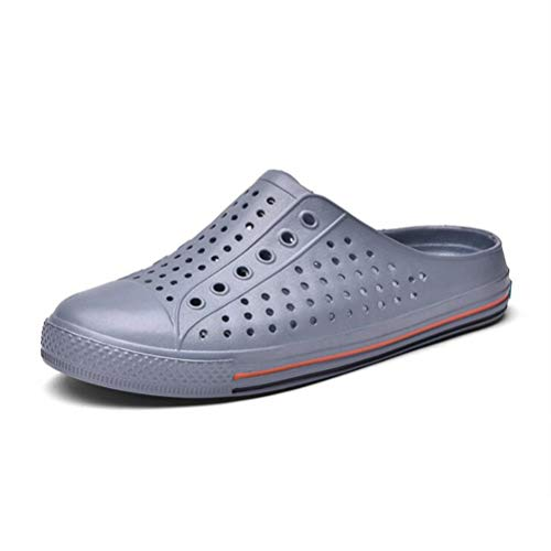 2018 Lazy Hole Comfortable Half Couple Gray Beach Summer Sandalsbreathable Slippers Hollow IrI7qwTfFx