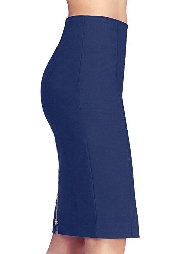 phistic Women's Tobi Zipper Pencil Skirt - Navy 10 by phistic