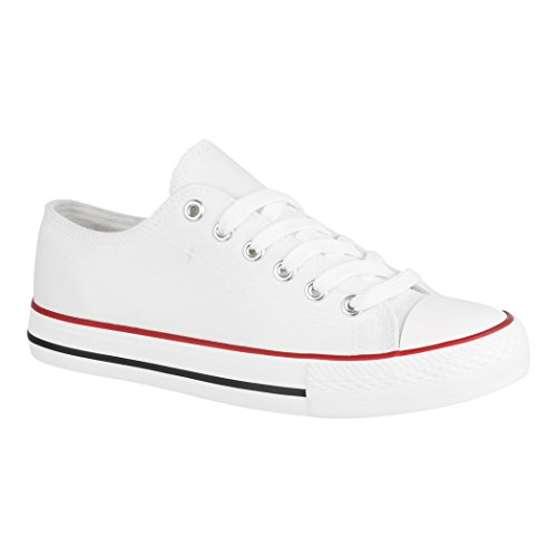 Elara - Sneaker Donna White Basic (F?llt Eine Nummer Gr??er Aus)