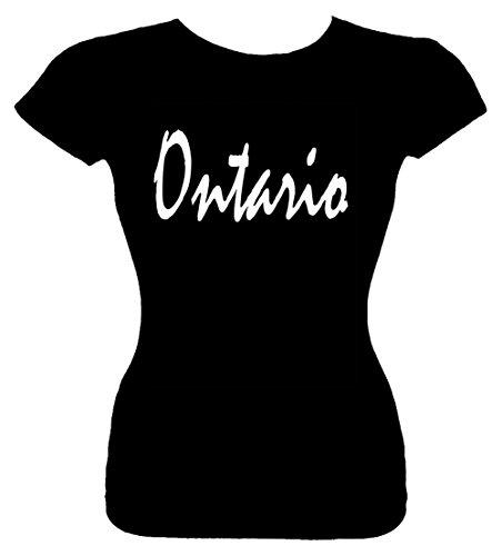 Junior's Size XL T-Shirt (ONTARIO (CANADA, CALIFORNIA)) Fitted Girls - California Ontario Shopping