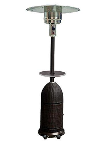 Resin Wicker Patio Heater Table