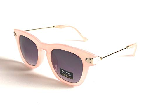 BRAND NEW CLASSIC VINTAGE STYLE SUNGLASSES PINK & GOLD FRAME UNISEX LENS RETRO BUNNY ()
