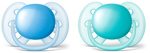 Philips Avent Ultra Soft Pacifier, 6-18 months, Blue/Teal, 2 pack, SCF212/22