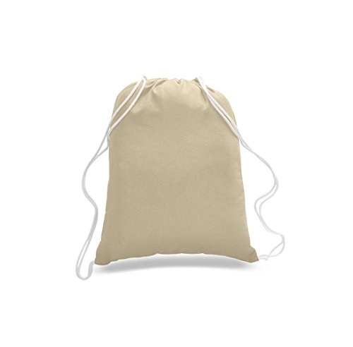 ( 100 Pack ) Factory Direct Discount Prices! Natural Cotton Drawstring Bags, Wholesale Backpacks, Ideal for Travel, Gym, Sport, Promotional, Art Crafted Bag (Natural) by Georgiabags