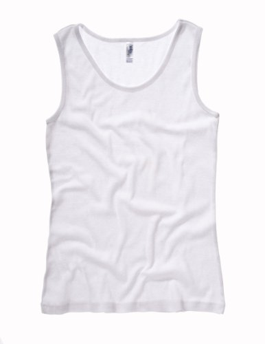 Bella + Canvas Missy Baby Rib Tank L WHITE