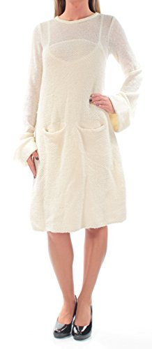Free People Womens Wool Bell Sleeves Sweaterdress Ivory XS (Wool People)