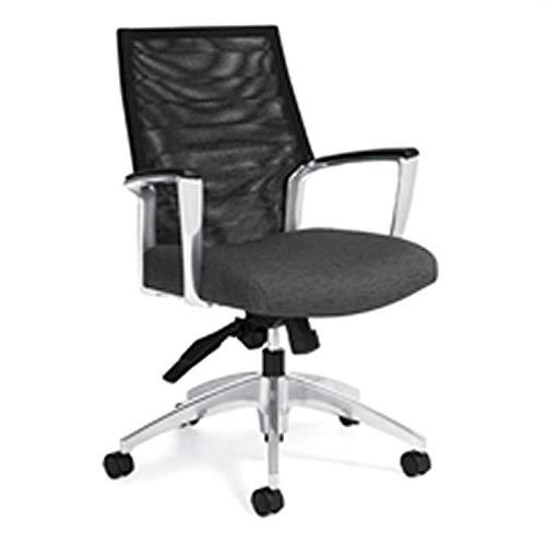 Global Accord Mesh Medium Back Tilter Office Chair in Granite Rock
