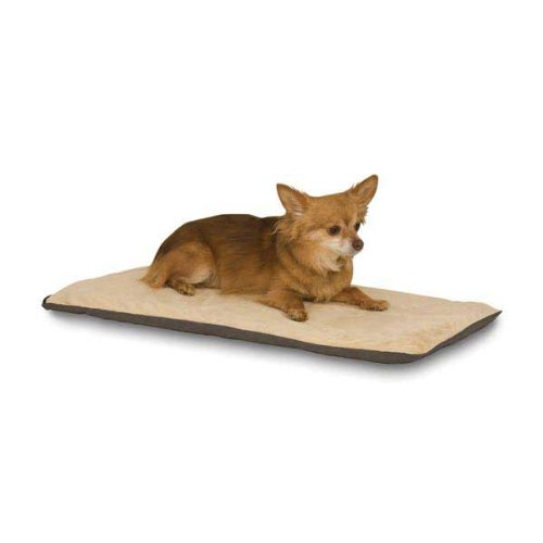 (K&H Pet Products Thermo-Pet Mat Heated Pet Bed Mocha 14