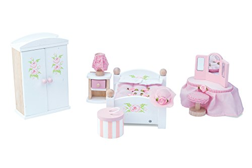 Le Toy Van Dollhouse Furniture & Accessories, Master Bedroom (Master Subdued)