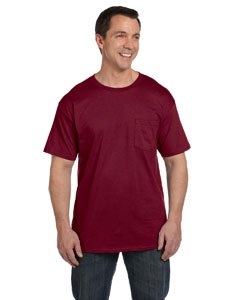 Hanes Beefy-T Adult Pocket T-Shirt, Cardinal, M US (Chest 38-40)