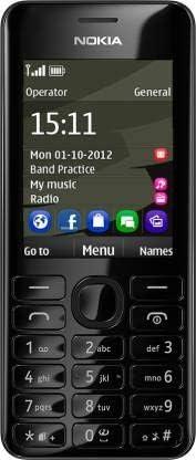 Asha 206 by Original HMD-N o k i a with 1.3 mega Pixels Camera, FM, Bluetooth – Black