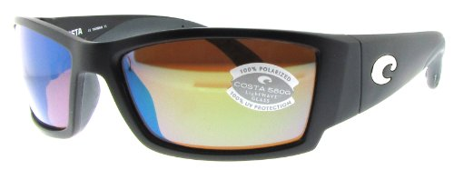 Costa Del Mar Corbina Sunglasses, Black, Green Mirror 580G - Mar 580g Del Costa Corbina