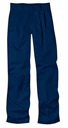 Dickies Big Boys' Pleated Front Pant, Dark Navy, 8 Regular