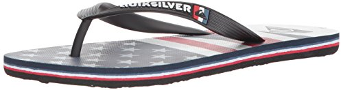 Quiksilver Men's Molokai Freedom Sandal, White/Blue/red, 8(41) M US ()