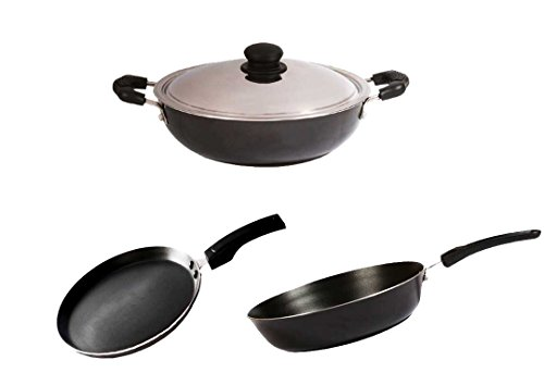 BrightFlame Non Stick Cookware Set Large