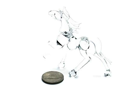 3 D Crystal Toy Horse Hand Bowl Glass Dollhouse Miniatures Decoration