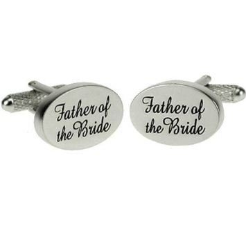 Father of the Bride Cufflinks By Onyx-Art LONDON Lapal Dimension