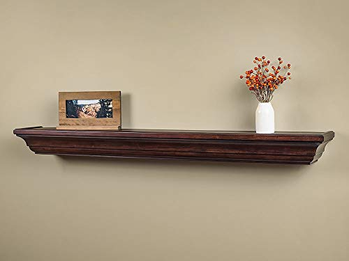 Colton 60-Inch Fireplace Mantel Shelf, Chocolate