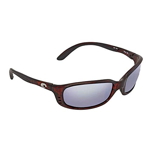 Costa Del Mar Brine Polarized Sunglasses, Tortoise, Green Mirror W580 Glass