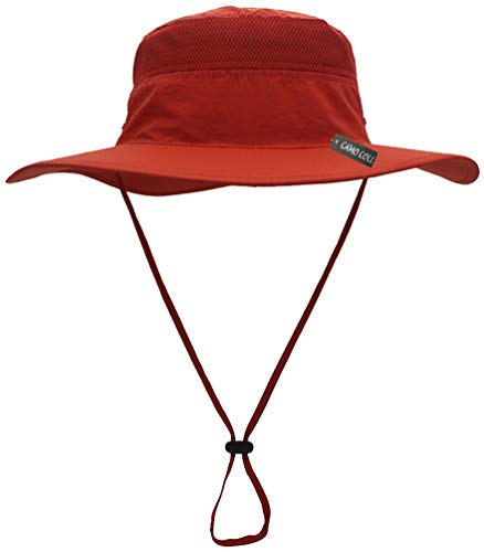 (Camo Coll Outdoor Sun Cap Camouflage Bucket Mesh Boonie Hat (Orange, One Size))