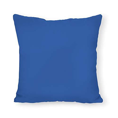 Capri Pillowcases - Capri Blue Pillow, Blue Indoor/Outdoor Pillows, Outdoor Lumbar Pillow, Solid Blue Sunbrella Pillow, Outdoor Patio Pillowcase 22 x 22 Inch