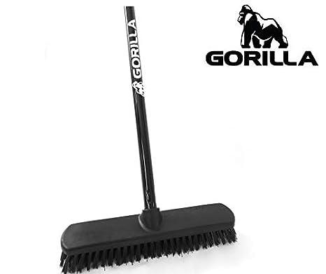 Floor Scrub Brush ect. Perfect for indoor//outdoor use – kitchen Heavy-Duty Commercial Grade Quality bathrooms garage GORILLA Deck Brush deck driveways