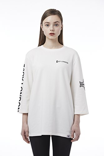 BOY London Unisex (S,M,L,XL) 18SS Boy Eagle Oversized T-Shirt - Black,White New_(BH1TL109) (White, Small) by BOY London